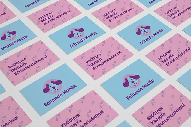 Echando Huella / Logo design / Sin fin de lucro