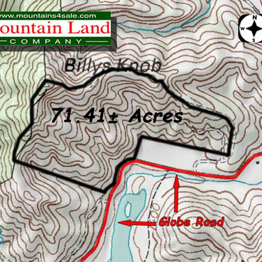 Caldwell County land adjoining National Forest Service