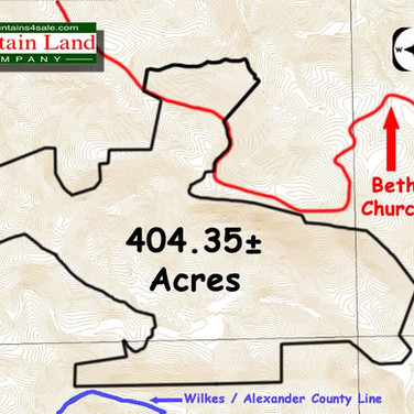 Brushy Mountain NC land