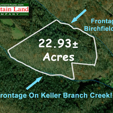 Avery County land with stream frontage