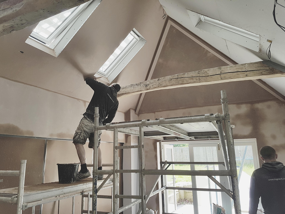 Skimming Ceiling in new Kitchen area