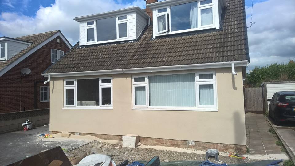 Front of Property Rendered / Plastered in Leeds