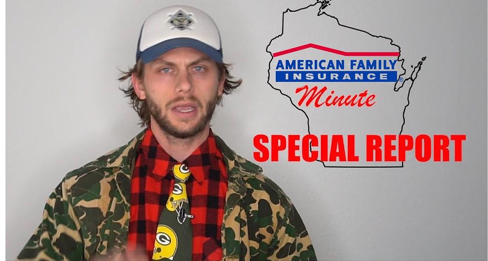 Charlie Berens announcing the American family minute