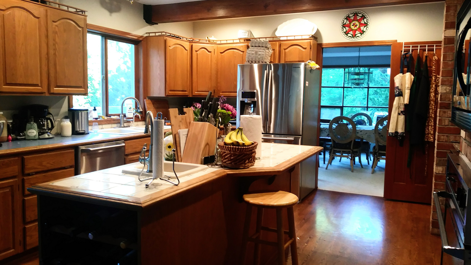 Kitchen to the formal dining room