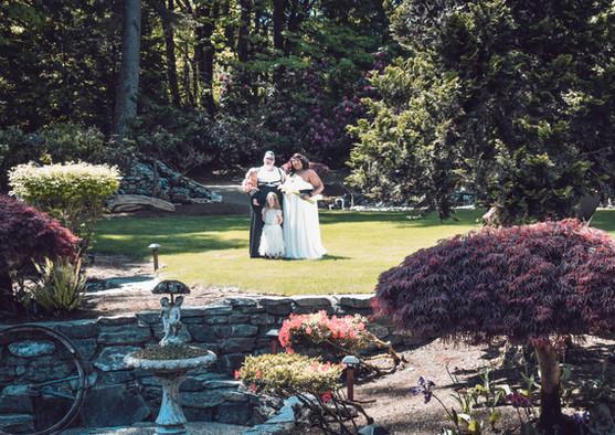 Happy bridal family