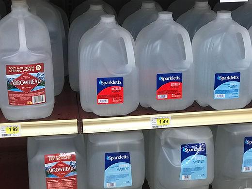 Found distilled water