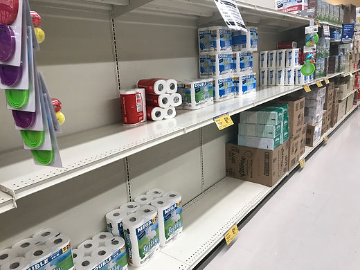 Found TP / PT and Kleenex plus some wipes