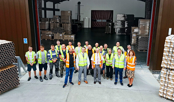 Nigel Adams MP visited Just Paper Tubes in 2018 to see the new warehouse developments