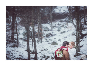 Shooting d'inspiration - mariage en hiver