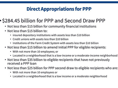 PPP Relief: Round Two