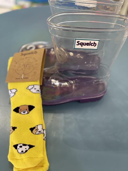 Bottes + 1 paire de chaussettes Chien