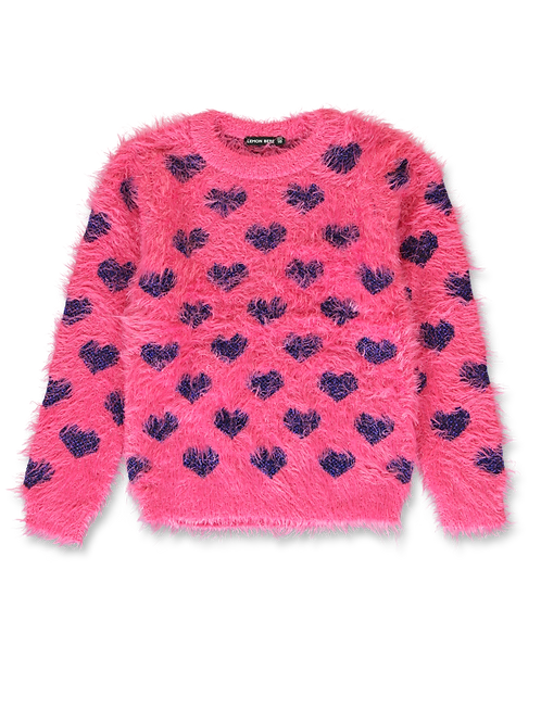 Pull tout doux rose