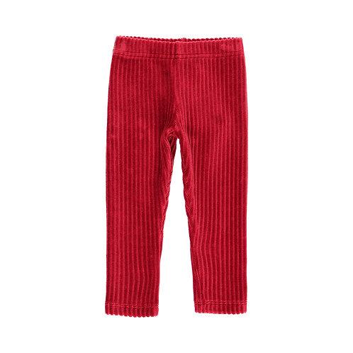 Legging velours rouge
