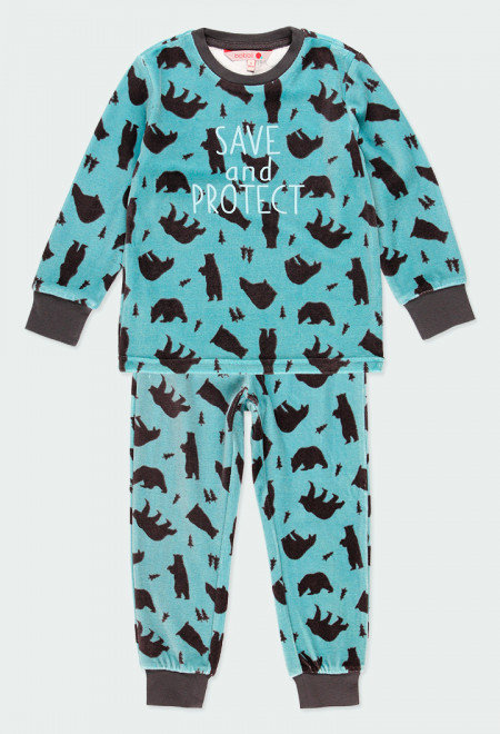 Pyjama velours Ours