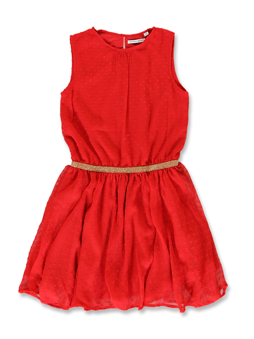Robe rouge ceinture