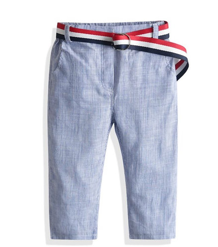 Pantalon léger rayé