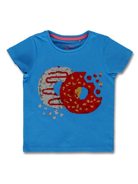 Tee shirt sequins donuts