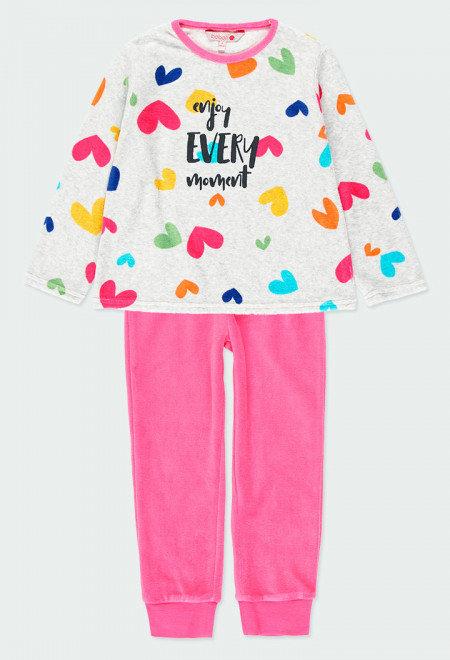 Pyjama Velours Coeurs