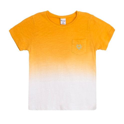 Tee shirt degradé moutarde