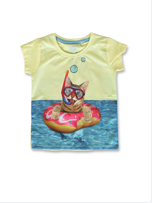 Tee shirt Chat à la mer