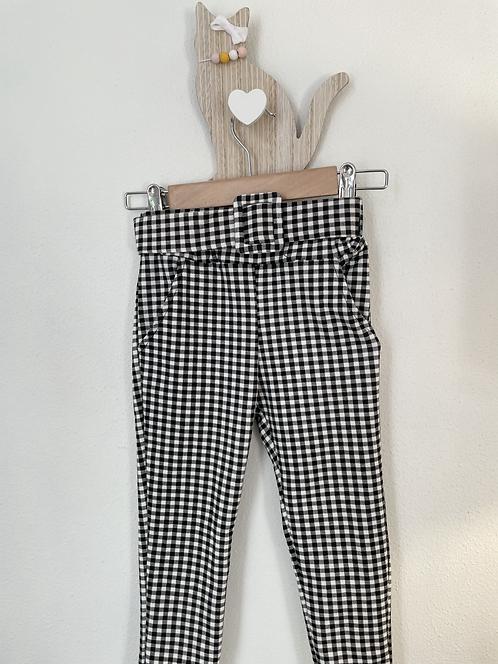 Pantalon Noir blanc à carreaux