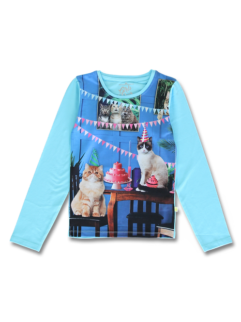 Tee shirt Chat bleu