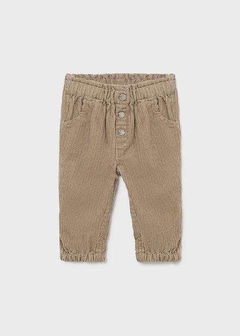 Pantalon velours sable