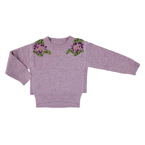 Pull Lilas Fleurs