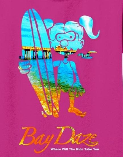 Bay Daze Girl Surfer Youth Tee