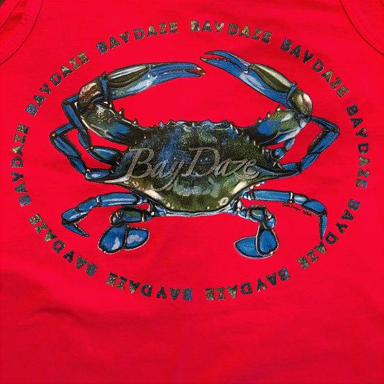 Men's Blue Crab Tank Top