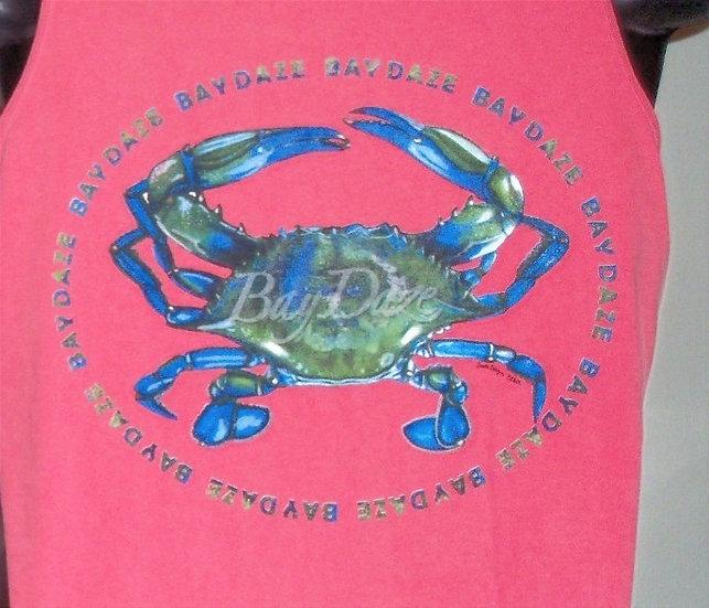 Ladies Blue Crab Tank Top
