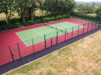 Tennis court installation