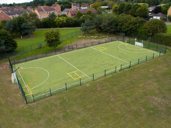 Full size netball court for Hull School