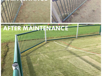 Artificial grass maintenance plans.