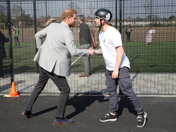 Prince Harry opens skate park