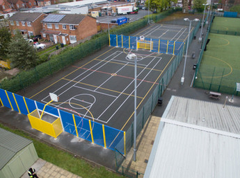 New life to tired netball court
