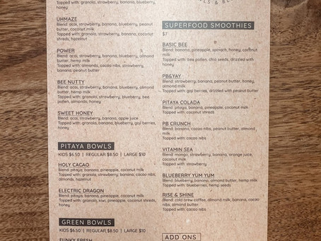 The UHMAZEBOWLS Menu
