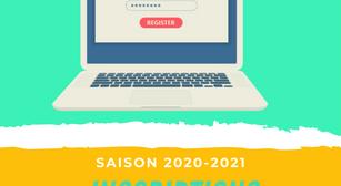 Les inscriptions pour la saison 2020-2021 sont ouvertes