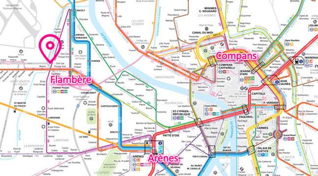 Plan d'accès simplifié | Encas-Danse Studio | Toulouse-Purpan