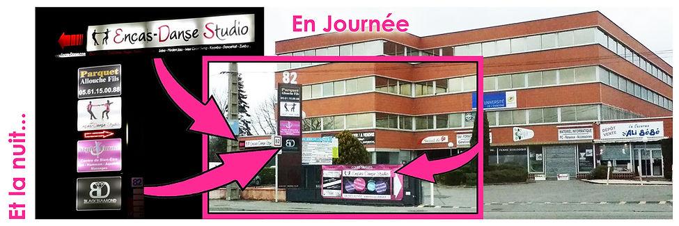 Plan d'accès | Encas-Danse Studio | Toulouse-Purpan
