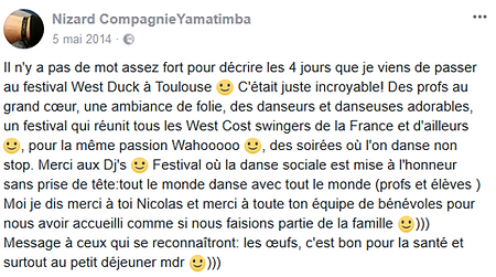 West Duck Swing - Festival de West Coast Swing à Toulouse