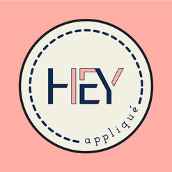 HEY appliqué Logo
