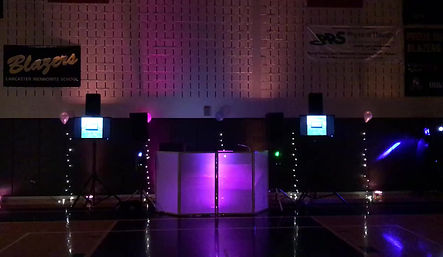 Lancaster Mennonite Homecoming dance included state of the art lighting by Stefano's Signature Events in 2018. Teens went crazy for hours.
