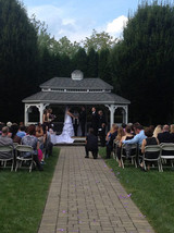 wedding ceremony pic of patricia and cal