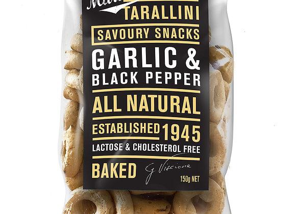 TARALLINI - Garlic & Black Pepper (150gr)