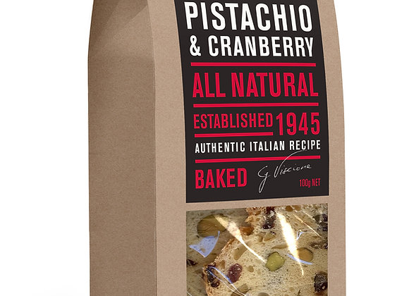 ALMOND BREAD - Pistachio & Cranberry (100gr)