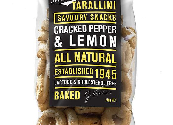 TARALLINI - Cracked Pepper & Lemon  (150gr)