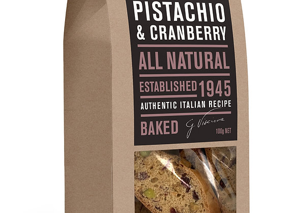 BISCOTTI - Pistachio & Cranberry (100gr)