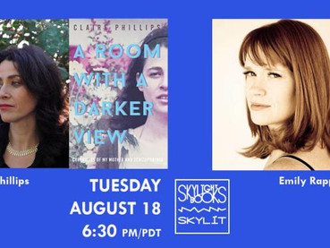 Book talk by Skylight Books for my debut memoir, A Room with a Darker View. Live on Crowdcast.
