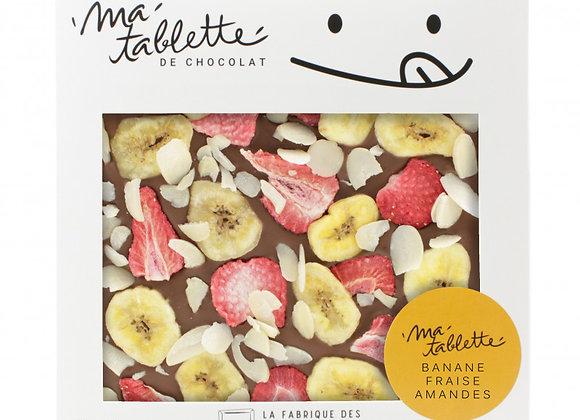 Tablette chocolat au lait - Banana Splittte 200g